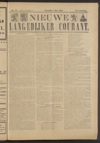 Nieuwe Langedijker Courant 1922-05-02