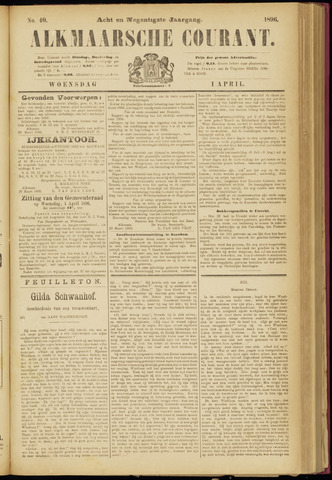 Alkmaarsche Courant 1896-04-01