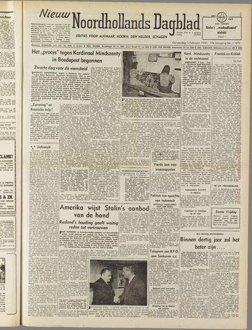 Nieuw Noordhollandsch Dagblad : voor Alkmaar en omgeving 1949-02-03
