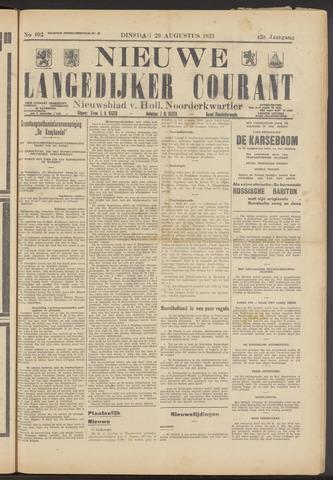 Nieuwe Langedijker Courant 1933-08-29