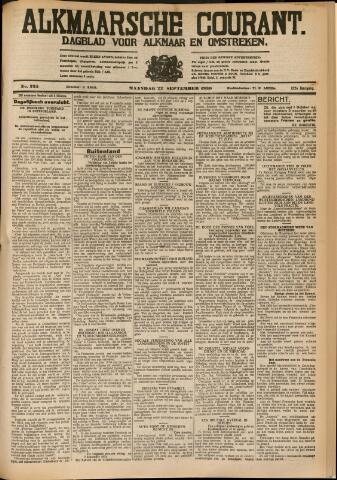 Alkmaarsche Courant 1930-09-22