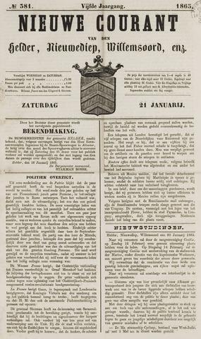 Nieuwe Courant van Den Helder 1865-01-21