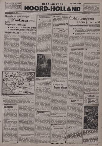 Dagblad Noord-Holland, Schager editie 1942-08-13