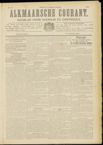 Alkmaarsche Courant 1914-02-25