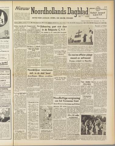 Nieuw Noordhollandsch Dagblad : voor Alkmaar en omgeving 1950-09-25