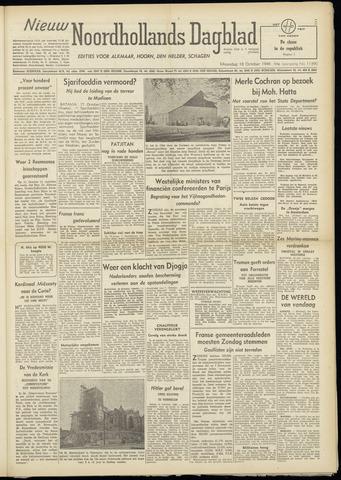 Nieuw Noordhollandsch Dagblad : voor Alkmaar en omgeving 1948-10-18