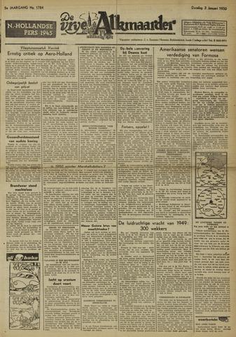 De Vrije Alkmaarder 1950-01-03