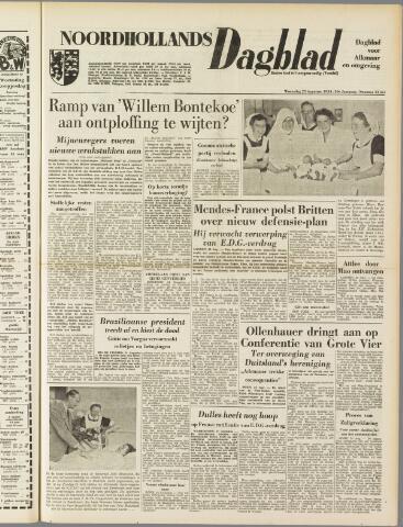 Noordhollands Dagblad : dagblad voor Alkmaar en omgeving 1954-08-25