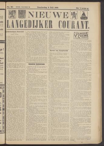 Nieuwe Langedijker Courant 1925-07-09