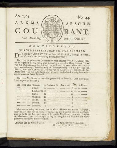 Alkmaarsche Courant 1808-10-31