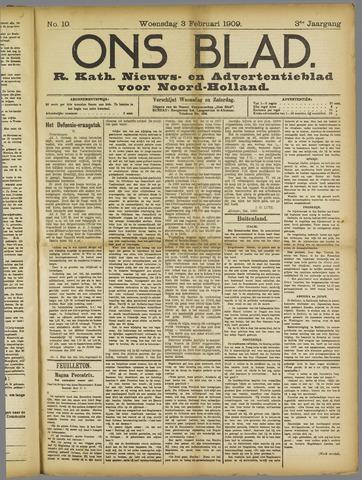 Ons Blad : katholiek nieuwsblad voor N-H 1909-02-03