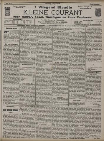 Vliegend blaadje : nieuws- en advertentiebode voor Den Helder 1909-04-03