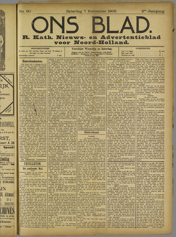 Ons Blad : katholiek nieuwsblad voor N-H 1908-11-07