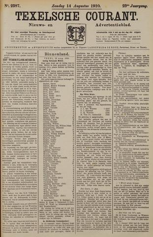 Texelsche Courant 1910-08-14