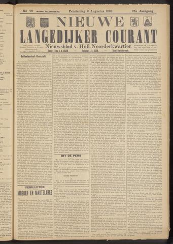 Nieuwe Langedijker Courant 1928-08-09