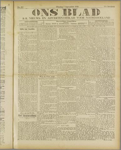 Ons Blad : katholiek nieuwsblad voor N-H 1920-09-07