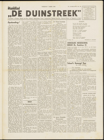 De Duinstreek 1950-04-07