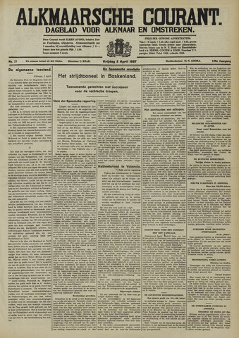 Alkmaarsche Courant 1937-04-02