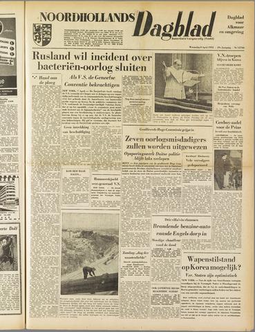 Noordhollands Dagblad : dagblad voor Alkmaar en omgeving 1953-04-08