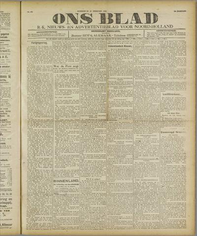 Ons Blad : katholiek nieuwsblad voor N-H 1921-02-17