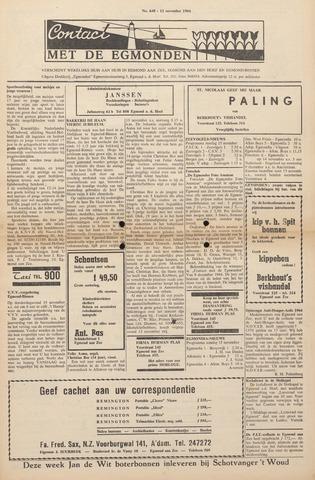Contact met de Egmonden 1964-11-12