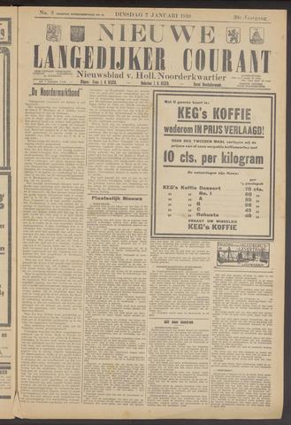 Nieuwe Langedijker Courant 1930-01-07
