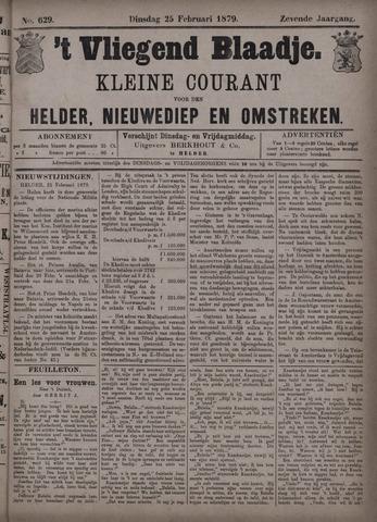 Vliegend blaadje : nieuws- en advertentiebode voor Den Helder 1879-02-25