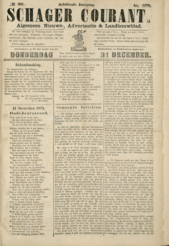 Schager Courant 1874-12-31