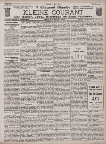 Vliegend blaadje : nieuws- en advertentiebode voor Den Helder 1914-03-21