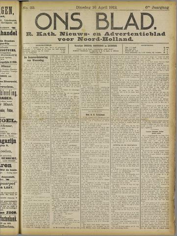 Ons Blad : katholiek nieuwsblad voor N-H 1912-04-16