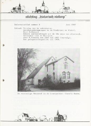 Informatieblad stichting Historisch Niedorp 1987