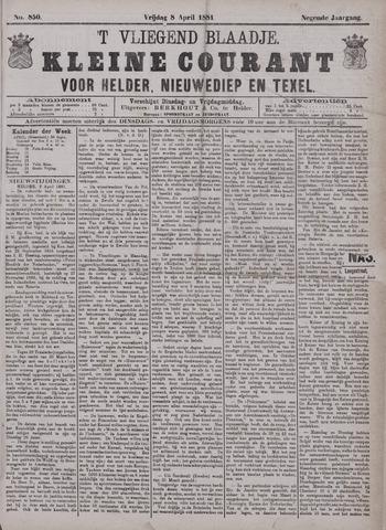 Vliegend blaadje : nieuws- en advertentiebode voor Den Helder 1881-04-08