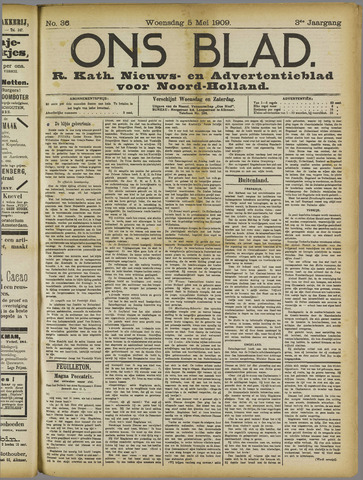 Ons Blad : katholiek nieuwsblad voor N-H 1909-05-05