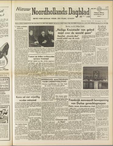 Nieuw Noordhollandsch Dagblad : voor Alkmaar en omgeving 1950-12-07