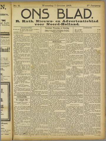 Ons Blad : katholiek nieuwsblad voor N-H 1908-10-07