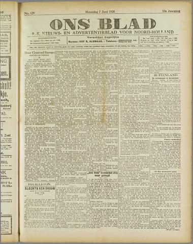 Ons Blad : katholiek nieuwsblad voor N-H 1920-06-07