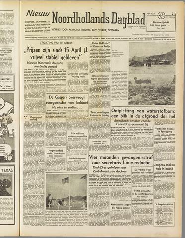 Nieuw Noordhollandsch Dagblad : voor Alkmaar en omgeving 1951-06-14