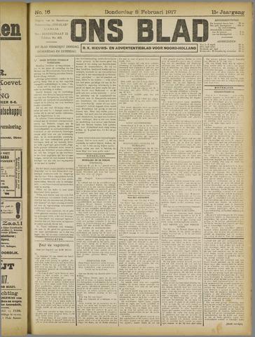 Ons Blad : katholiek nieuwsblad voor N-H 1917-02-08