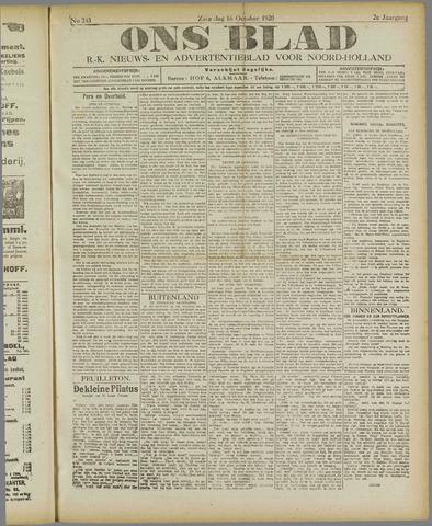 Ons Blad : katholiek nieuwsblad voor N-H 1920-10-16