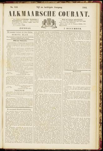 Alkmaarsche Courant 1883-12-02