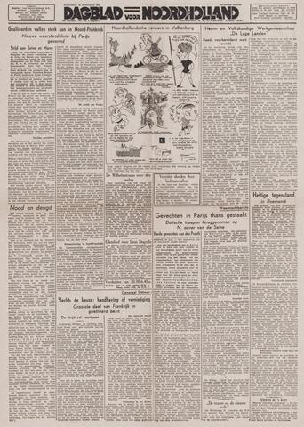 Dagblad Noord-Holland, Schager editie 1944-08-30