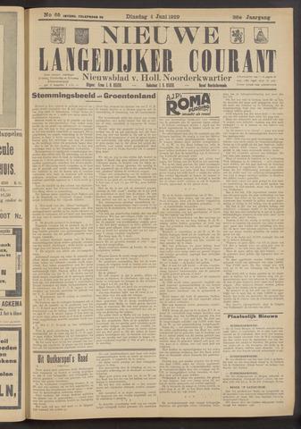 Nieuwe Langedijker Courant 1929-06-04
