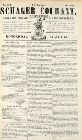 Schager Courant 1881-07-14