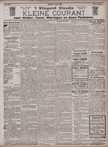 Vliegend blaadje : nieuws- en advertentiebode voor Den Helder 1903-04-04