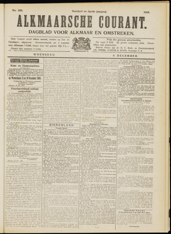 Alkmaarsche Courant 1908-12-09