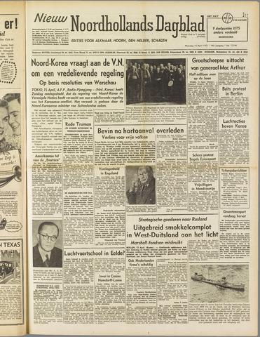 Nieuw Noordhollandsch Dagblad : voor Alkmaar en omgeving 1951-04-16