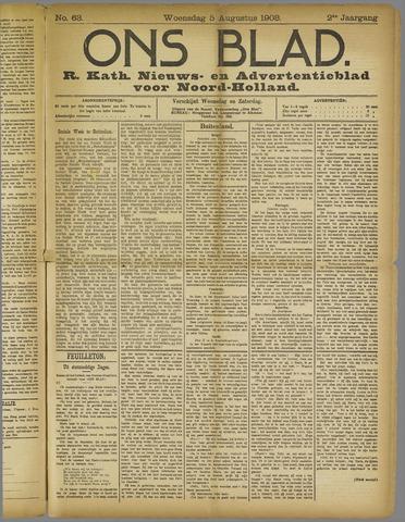 Ons Blad : katholiek nieuwsblad voor N-H 1908-08-05