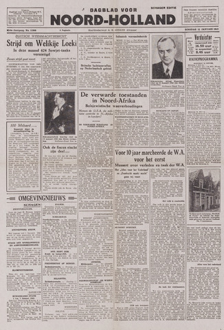 Dagblad Noord-Holland, Schager editie 1943-01-12