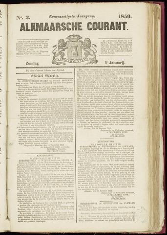 Alkmaarsche Courant 1859-01-09