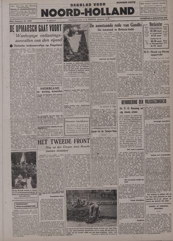 Dagblad Noord-Holland, Schager editie 1942-08-08
